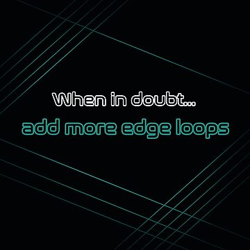 3D Modeling- Edge Loops by usclaireforce