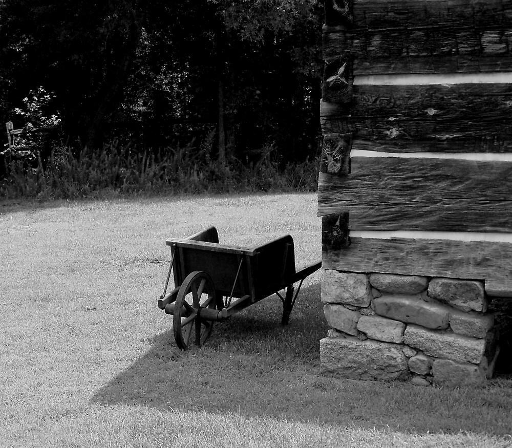 My Little Wheelbarrow, B&W by Kelsey Williams