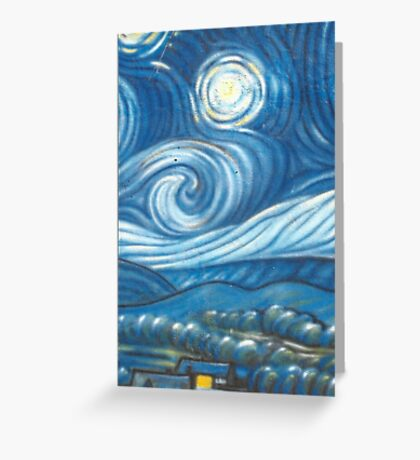 Starry Night Mural @ Venice Beach Greeting Card