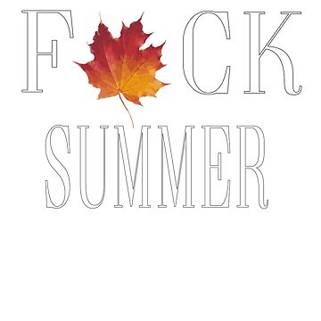 Summer Sucks leaves by Gimmedis