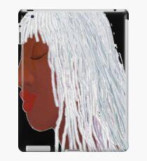 Silver Loc'd Queen Black ground iPad Case/Skin
