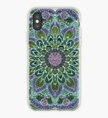 Hand Drawn Pink Purple Mandala  on Dark iPhone Case