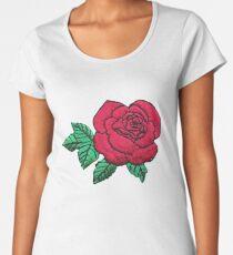 Embroidered Rose Women's Premium T-Shirt