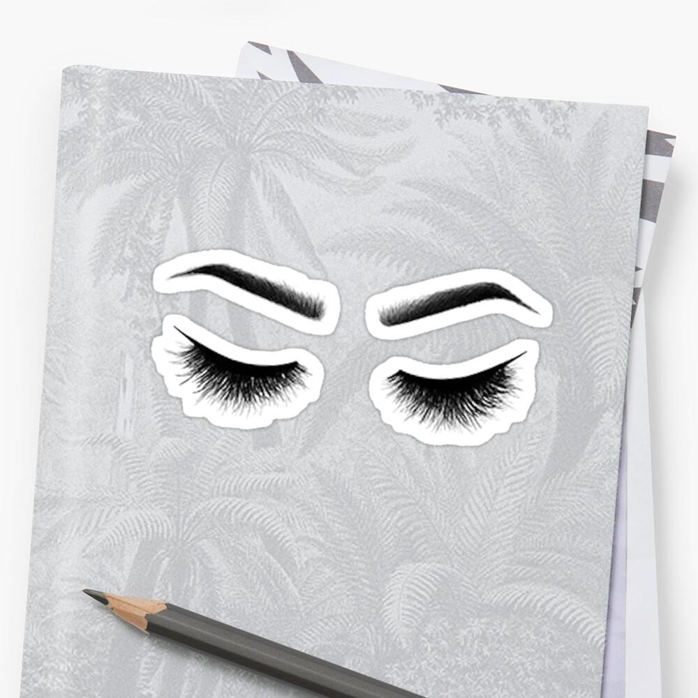Augenbrauen auf fleek Sticker