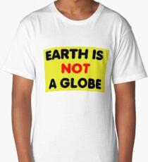 Earth is not a Globe Long T-Shirt