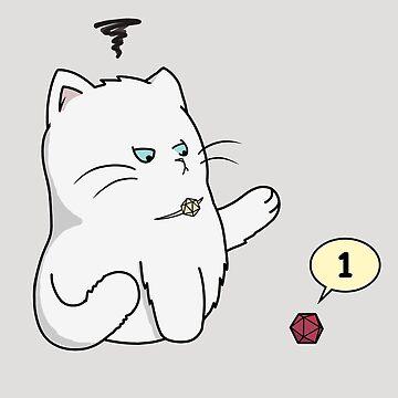 Gaming Cat (Crit Happens) by AHundredAtlas
