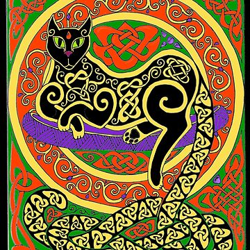 Celtic Cat #60 by ingridthecrafty