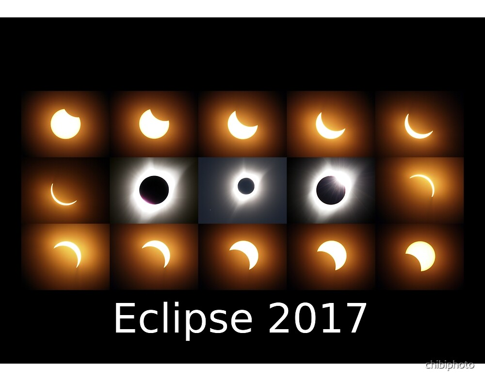 Eclipse 2017 sequence by chibiphoto