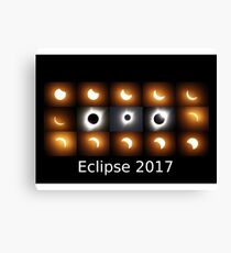 Eclipse 2017 sequence Canvas Print