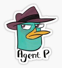 Agent P  Sticker