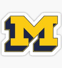 Michigan 3D Block M Sticker