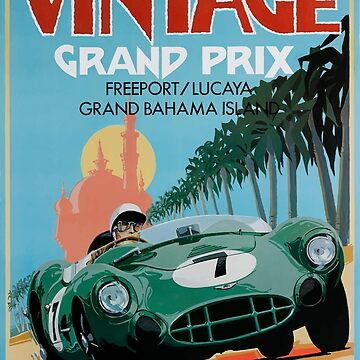 1987 Grand Bahama Vintage Grand Prix Race Poster by retrographics