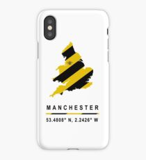 Manchester GPS Bee Map iPhone Case/Skin