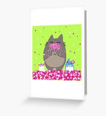 Totoro Spring Greeting Card