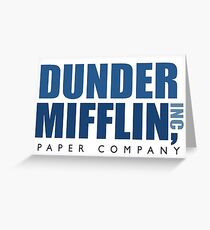 dunder mufflin Greeting Card