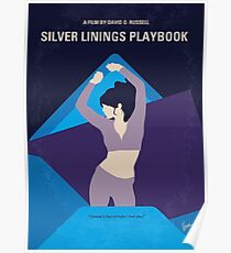 No832 My Silver Linings Playbook minimal movie poster Poster