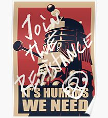 It's Humans We Need Poster