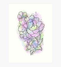 Watercolour Flowers Art Print