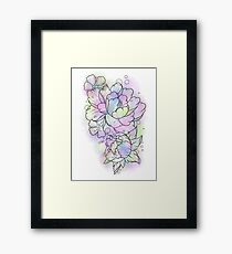 Watercolour Flowers Framed Print