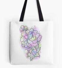 Watercolour Flowers Tote Bag