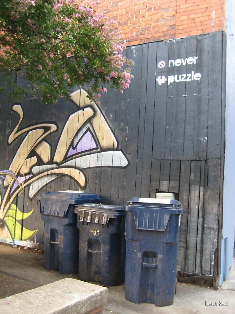 Clayton Street graffiti wall by Laurkat