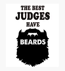 Judge court law Justice, gift bday t shirts beards Photographic Print
