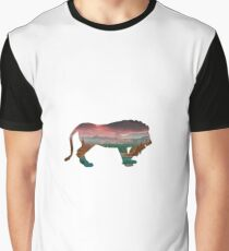 Lion in the Forest Graphic T-Shirt