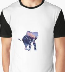 Elephant in a Canvas Graphic T-Shirt