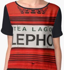Telephone Booth Sign Chiffon Top