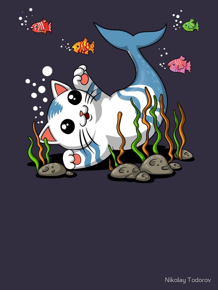 Cat Mermaid Funny Ocean Bottom Fishes  by underheaven
