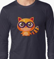 Raccoon Baby Animal In Girly Sweet Style T-Shirt
