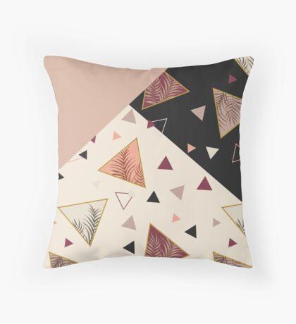 Triangles&Palms #redbubble #decor #buyart Throw Pillow