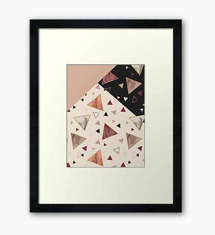 Triangles&Palms #redbubble #decor #buyart Framed Print