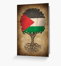 Tree of Life with Palestinian Flag Greeting Card