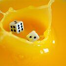 splashing dice by Danielle  Kay