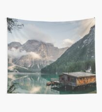 Live the Adventure - Lago Di Braies VII Wall Tapestry