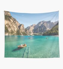 Live the Adventure - Lago Di Braies XIX Wall Tapestry