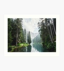 Live the Adventure - Lago Di Braies X Art Print