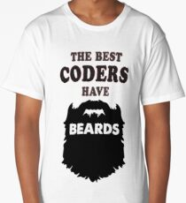 Coder coding beards gift programmer tees shirts Long T-Shirt