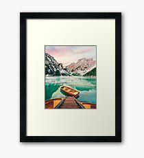 Live the Adventure - Lago Di Braies XVII Framed Print