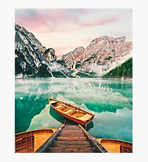 Live the Adventure - Lago Di Braies XVII Photographic Print