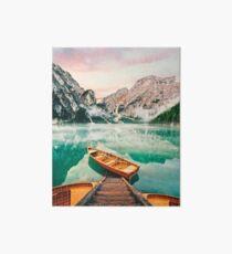 Live the Adventure - Lago Di Braies XVII Art Board