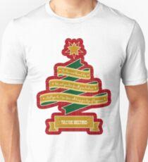 Christmas Tree Ribbon Red Plaid Yuletide Greetings Slim Fit T-Shirt