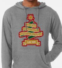 Christmas Tree Ribbon Red Plaid Yuletide Greetings Lightweight Hoodie