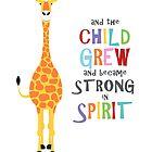 giraffe and the child grew by creativemonsoon