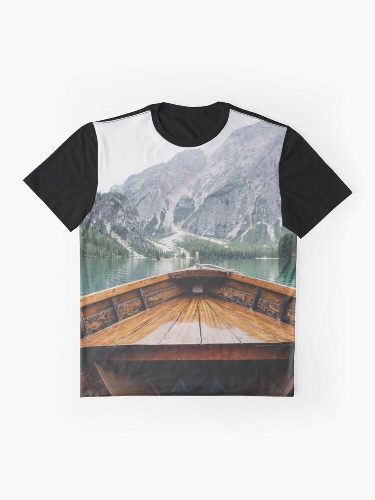 Vista alternativa de Camiseta gráfica Vive la aventura - Salvaje y libre