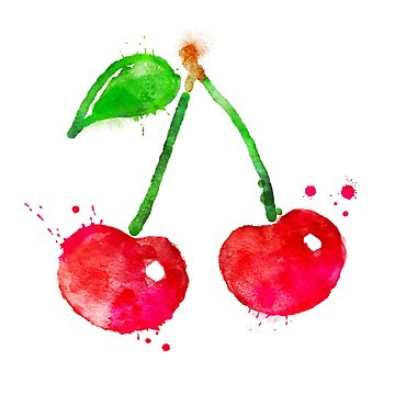 Watercolor cherries by Sofia-G