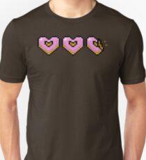 Pink Pixel Doughnut Hearts T-Shirt