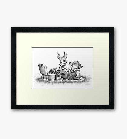 Foxy picnick Framed Print