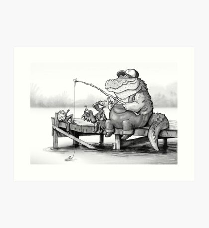 Fishing Buddies Art Print
